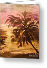 A Popular Tropical Scene Greeting Card