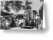 A Portable Jazz Band In Miami Greeting Card
