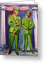 Daddy Soldier Greeting Card