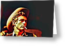 A Portrait Of James Dean Greeting Card