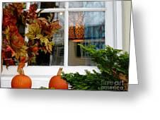 A Pretty Autumn Window Greeting Card