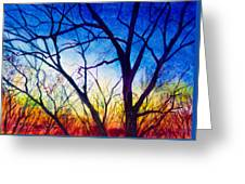 A Primary Sunset Greeting Card