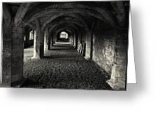 A Priory Vault. Greeting Card