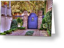 A Private Garden In Charleston Greeting Card