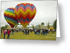 Albany Oregon Art And Air Show Hot Air Balloon Lift Off Greeting Card