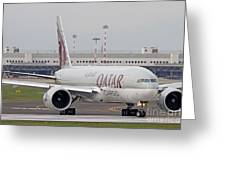 A Qatar Airways Cargo Boeing 777 Greeting Card