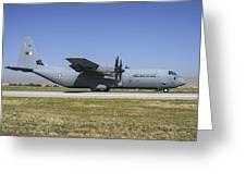 A Qatar Emiri Air Force C-130j-30 Greeting Card