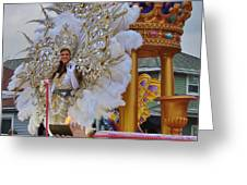 A Queen Of Carnival During Mardi Gras 2013 Greeting Card