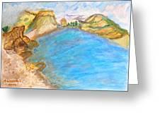 A Quiet Beach  Greeting Card