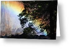 A Rainbow Below Yosemite Falls Greeting Card