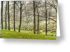 A Rainy Day At The Cemetery Greeting Card