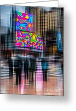 A Rainy Day In New York Greeting Card by Hannes Cmarits
