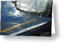 A Rainy Night Reflection Greeting Card