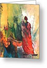 A Red Dog In Morocco Greeting Card