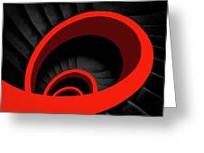 A Red Spiral Greeting Card
