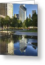 A Reflection Of Chicago Greeting Card