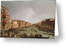 A Regatta On The Grand Canal Greeting Card