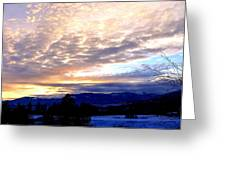 A Remarkable Winter Evening Greeting Card