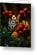 A Restaurants Front Window Display Greeting Card