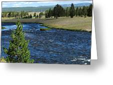 A River Runs Through Yellowstone Greeting Card