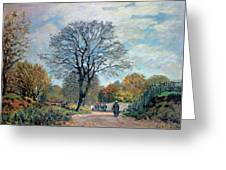 A Road In Seine-et-marne, 1878 Greeting Card