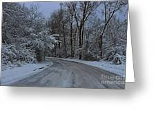 A Road In Winter. Greeting Card