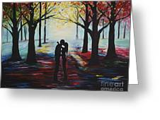 A Romantic Kiss Greeting Card