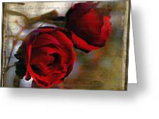 A Rose Beside A Rose Greeting Card