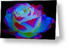 A Rose Enhanced Greeting Card