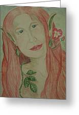 A Rose Faerie Greeting Card