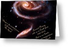 A Rose Made Of Galaxies For Spock Greeting Card