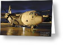 A Royal Air Force C130j Hercules Greeting Card