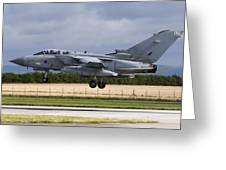 A Royal Air Force Tornado Gr4a Landing Greeting Card