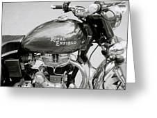 A Royal Enfield Motorbike Greeting Card