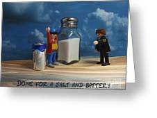 A Salt And Battery Greeting Card