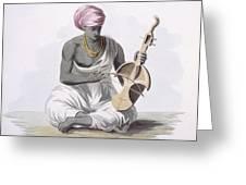 A Sarinda, Or Hindostan Type Violin Greeting Card