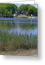 A Scenic View Of Round Pond  At The United States Military Academy Greeting Card