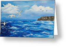 A Seagull's View George's Head Kilkee Co. Clare Greeting Card