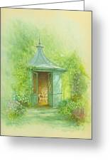A Seat In The Summerhouse Greeting Card