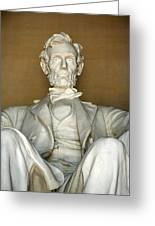 A Seated Abe Lincoln Greeting Card