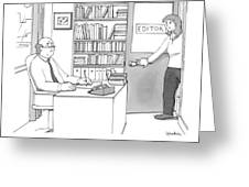 A Secretary Informs An Editor Greeting Card