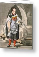 A Serving Girl At An Inn Greeting Card