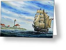 A Ship There Is Greeting Card