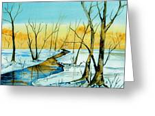 A Sign Of Winter Greeting Card