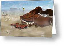 A Slow Death In Piano Valley - Panoramic Greeting Card