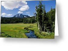 A Small River Runs Through Lassen Greeting Card