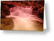 A Small Waterfall Along The Old North Cascade Highway  Greeting Card