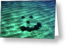 A Smiley Face Formed By Large Boulders Greeting Card
