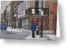 A Snowy Day On Wellington Greeting Card