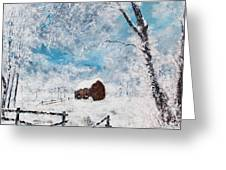 A Snowy Winters Day Greeting Card